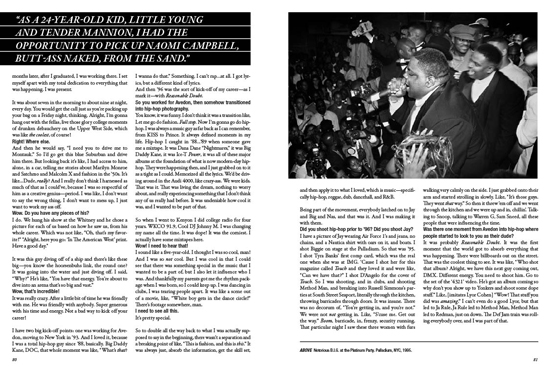 Photographer Jonathan Mannion captured B.I.G. at The Platinum Party, Palladium Nightclub in 1995! pg. 81