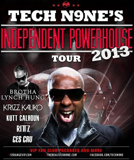 """@TechN9ne Sets Out On """"Independent Powerhouse Tour 2013"""" March 15th"""